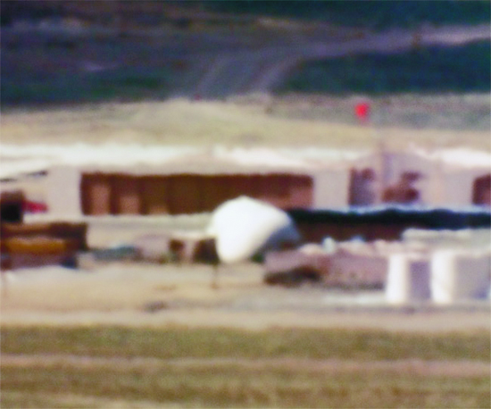Large Hangars and Fuel Storage/Tonopah Test Range, NV/Distance ~18 miles/10:44 am