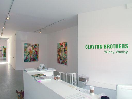 "Clayton Brothers, ""Wishy Washy,"" Installation View"