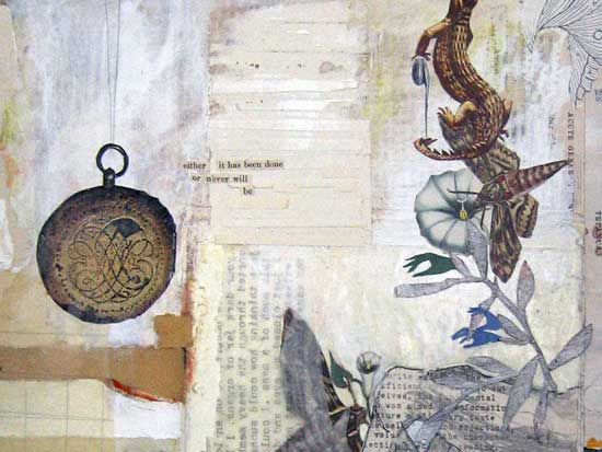 """Jill Hubley, """"Asper,"""" 2006, Collage, Mixed Media, and Paint on Paper"""