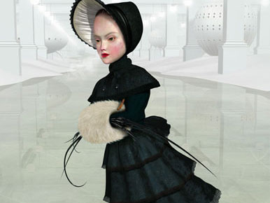 "Ray Caesar, ""In the Hall of Ages,"" Giclee Print on Premier Art Hotpress Paper, 28 x 28 inches, 2005, Edition of 20"
