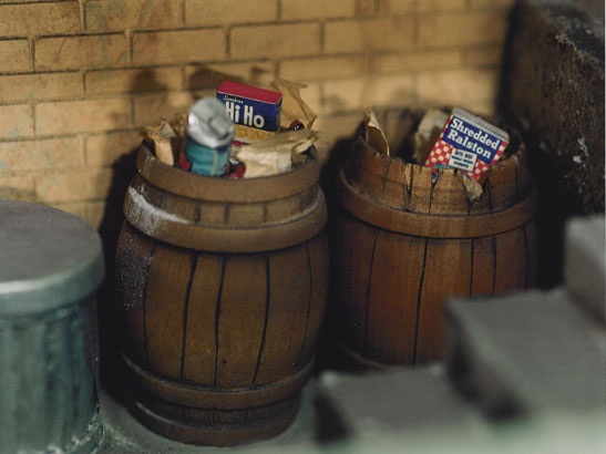"""Two Story Porch (barrels)"" from the series ""The Nutshell Studies of Unexplained Death"""