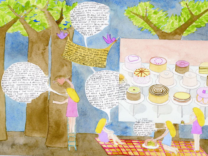 Museum Visit: Picnic (Hope is a mustard seed/Wayne Theibaud)