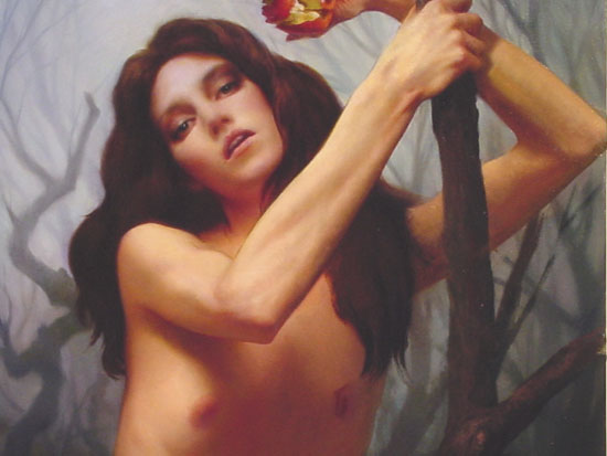 "Christopher Pugliese, ""Eve Before Adam,"" Oil on canvas, 38 x 28 inches, 2005"