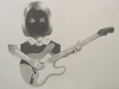 """Gregory Edwards, """"God Or The Devil 1,"""" 2005, Graphite on Paper, 22 x 30 inches"""
