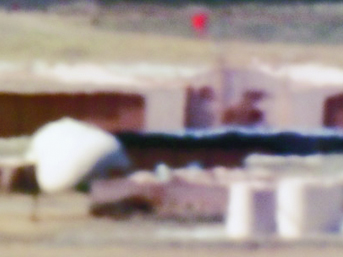 Large Hangars and Fuel Storage/Tonopah Test Range, NV/Distance ~18 miles/10:44 am