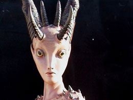 "Colin Christian, ""Madison Satana,"" Fiberglass, 7' tall, 2005"