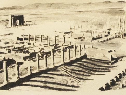 """Devon Costello, """"Ruins,"""" 2006, Detail View from """"Burial Installation"""""""