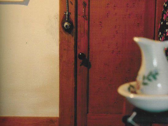 """Un-papered Bedroom (door)"" from the series ""The Nutshell Studies of Unexplained Death"""
